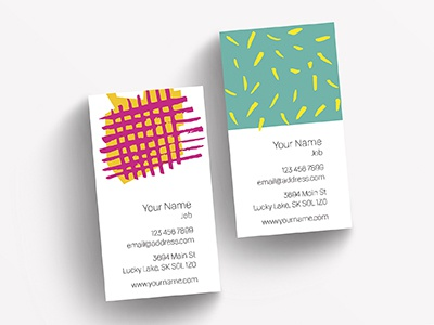happy business cards hand drawn style spontaneous color psd business card