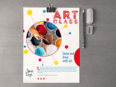 art class template