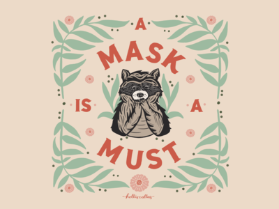 A Mask is a Must covid19 mask animals procreate app drawing art nature flowers illustration illustration digital graphic design design