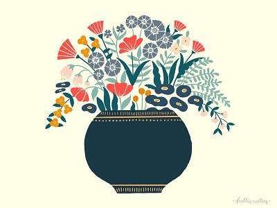 Vase Study 02 botanical illustration floral design home decor vase still life floral procreate app drawing art nature flowers illustration digital illustration graphic design design