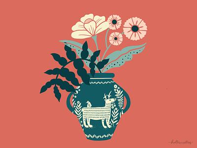 Vase Study 02 botanical art art licensing botanical drawing animals procreate app drawing art nature flowers illustration digital illustration graphic design design