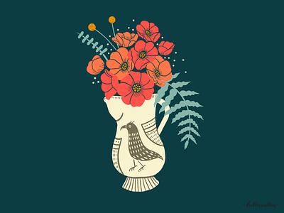 Vase Study 03 digital art handdrawing drawings study florals botanical art animals procreate app drawing nature flowers illustration digital illustration graphic design design