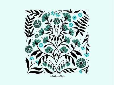 equilibrado digital illustration digital drawing floral art print floral art florals botanical art art procreate app drawing nature flowers illustration digital illustration graphic design design
