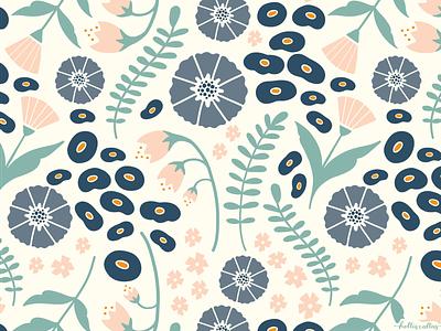 Flores de Jueves botanical garden wallpaper repeating repeat pattern botanical art pattern art procreate app drawing nature illustration digital illustration graphic design design flowers
