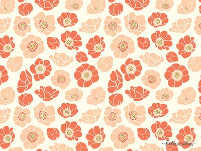Friday Flores surface pattern designer surface pattern design textile pattern floral botanical art repeat pattern nature procreate app flowers illustration digital illustration graphic design design