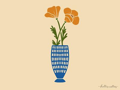 Flower Buds botanical drawing art print graphic design procreate digital illustration illustration floral illustration flowers
