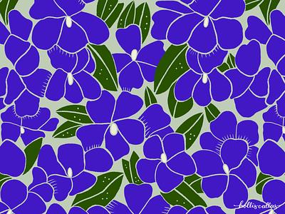 Violets surface design pattern pattern design nature illustration flowers botanical illustration nature graphic design digital drawing procreate floral illustration
