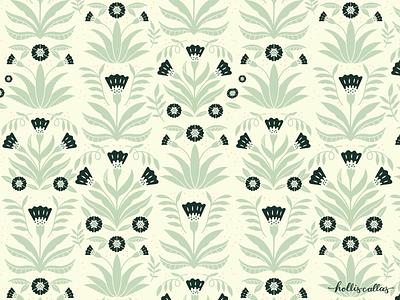 Formation botanical drawing digital illustration procreate design interior design nature illustration flowers graphic design wallpaper