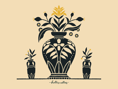 Vase Study pattern art print botanical art flower illustration florals spot illustration vase procreate app nature illustration digital illustration flowers design graphic design