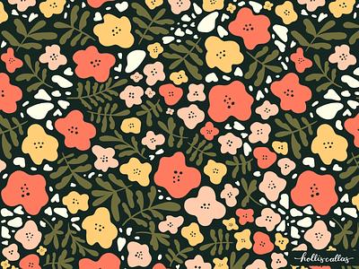 Floral Flow design repeat pattern floral illustration flowers procreate digital illustration illustration textile design surface pattern design pattern