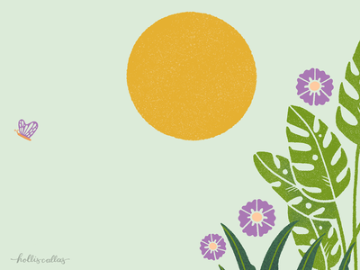 Sunshine + Blooms botantical plants publications magazine illustration editorial illustration publication nature design illustration digital illustration flowers graphic design