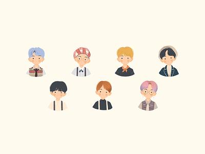 BTS digitalart digital illustration illustration sketch characters procreate doodle bts