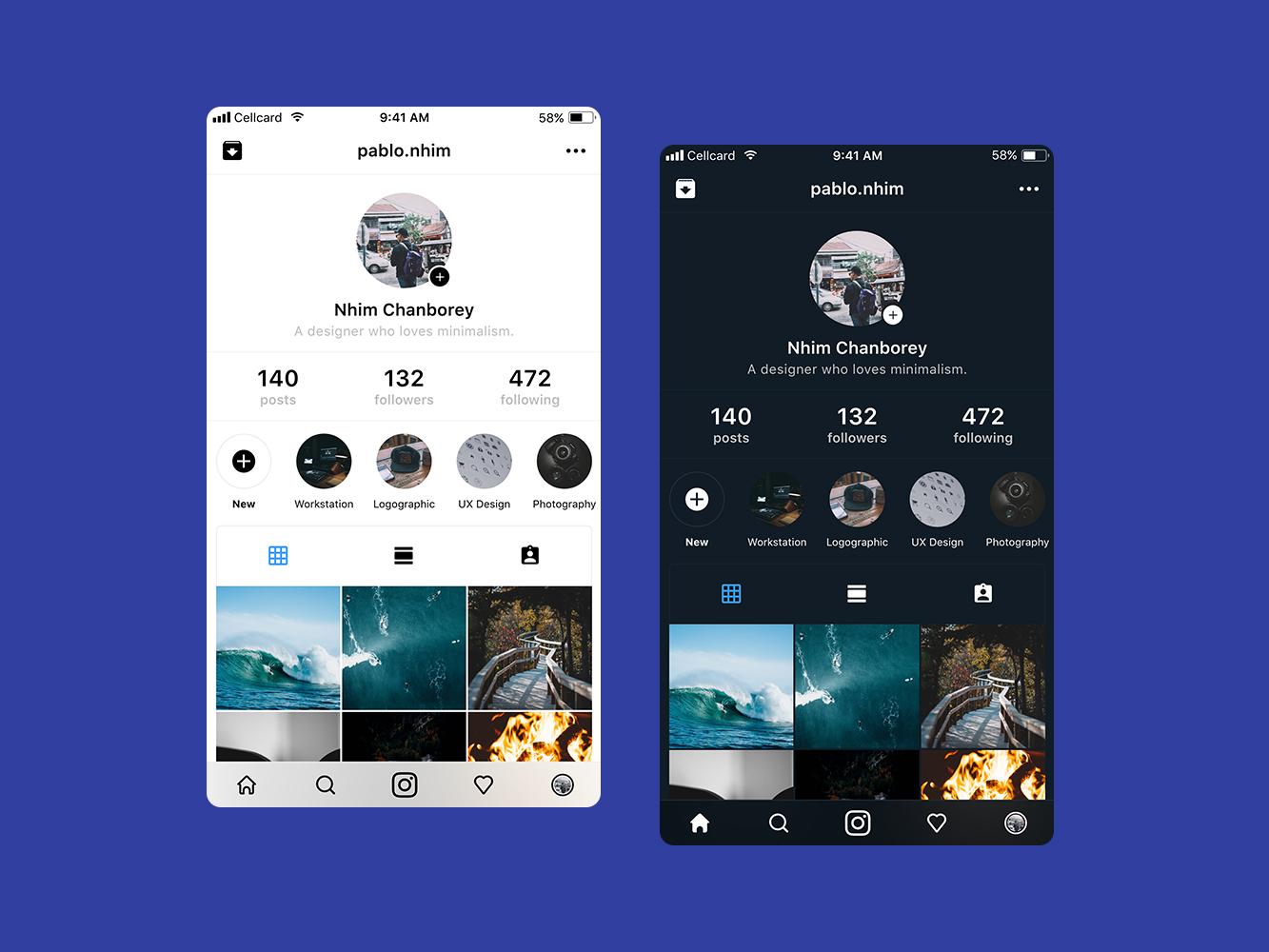 Instagram Redesign cambodia redesign ux ui branding design mobile app design app ui