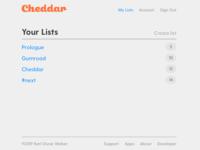 Cheddar Lists