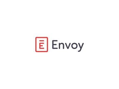 Refreshed Logo typography design logo branding envoy