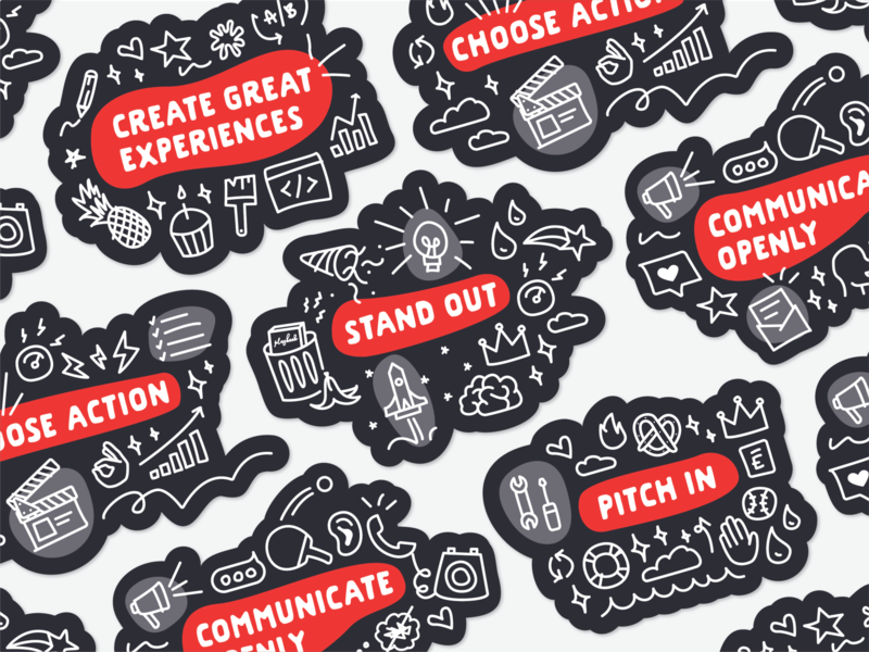 Core Values Stickers sticker vaule envoy