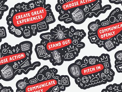 Core Values Stickers sticker vaule envoy