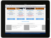 Booking.com Tablet Website