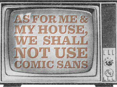 As For Me & My House... print sentinel lol