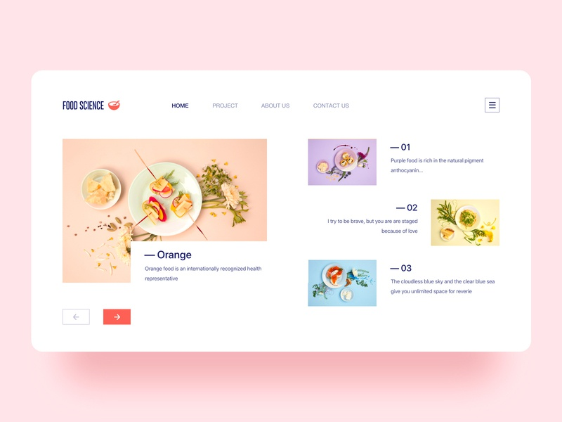 Food Science web web design logo branding green 设计 ui