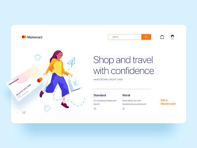 Mastercard event landing page02 ui branding web design illustration 应用界面设计