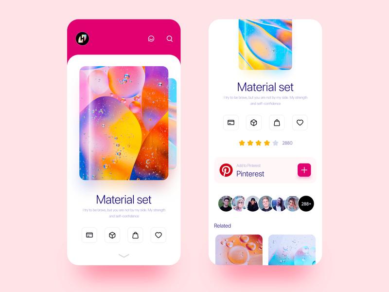 Inspiration collection project ui  ux uiux red app design web design ui 应用界面设计