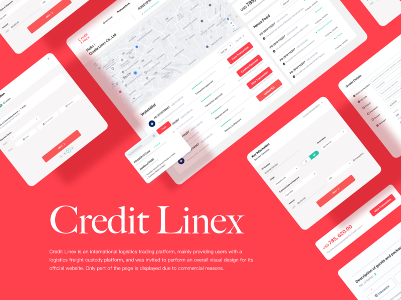 Credit Linex web design web red uiux 应用界面设计 ui