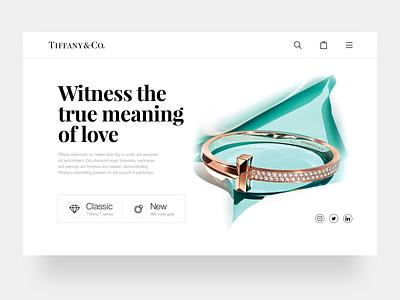 Tiffany web landing page jewelry design branding web design uiux ui 应用界面设计