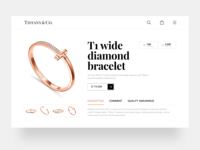 Tiffany web purchase page landing page design branding uiux web design 应用界面设计 jewelry design