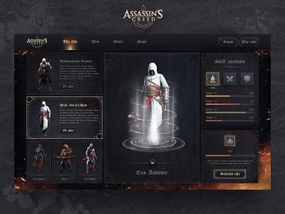 Creed Assassin PC version redesigned game design web design 应用界面设计 game uiux game game ui