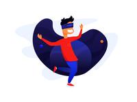 VR Experience Flat Illustration