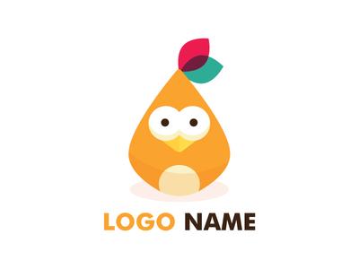 Cute Birdie Logo chick branding logo4sale stocklogo logo animal birdie cute
