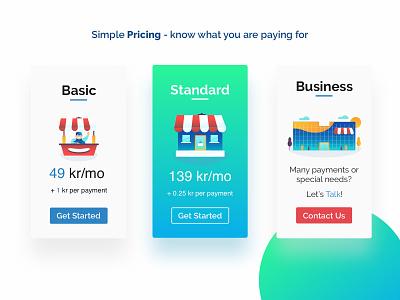 Pricing Plans Illustrations gradient web design flat illustration uxui online payment digital art ecommerce illustration pricing plans