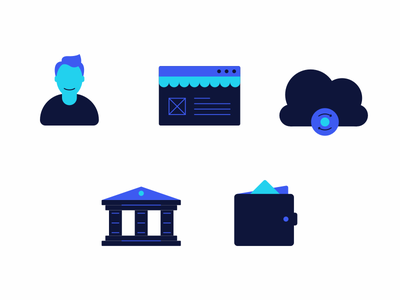Icons for Landing Page landing page icon set payment gateway payments acquiring