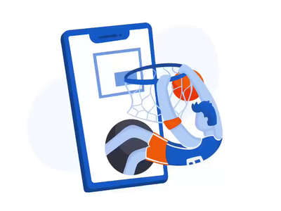 Success Screen UI Graphics product illustration ipad pro procreate illustration flat illustration success dunking basketball