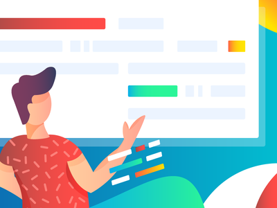 Documentation Header Graphics ui tech character design online payment ipad pro procreate startup flat illustration developer documentation
