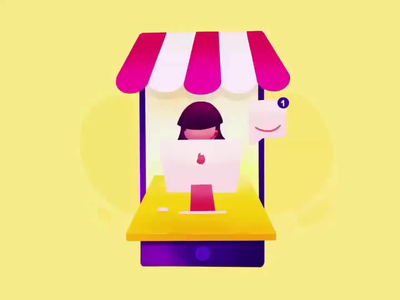 Ecommerce Customer Support Illustration timelapse