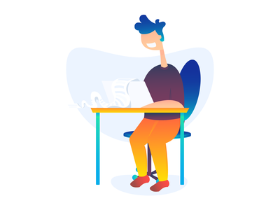 Terms and Conditions Page Illustration office adobe illustrator vector ui ux gdpr website rules terms and conditions saas