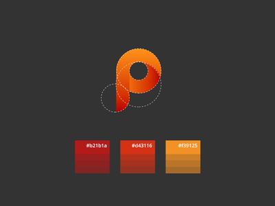 Pixelwave Creative Branding identity process p wave orange logomark branding logo design logo