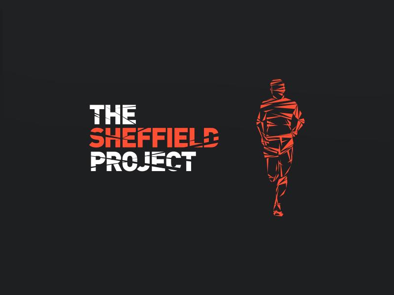 The Sheffield Project Branding running club smash cracked sheffield sport running identity orange logomark branding logo design logo