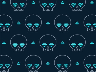 Jackie Saik / Projects / Skull iPhone Wallpapers   Dribbble