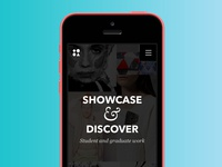 Mobile Landing Page for a Creative Student Hub