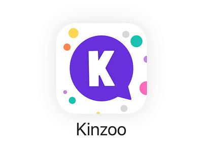 Kinzoo App Icon messaging app app icon branding logo animation