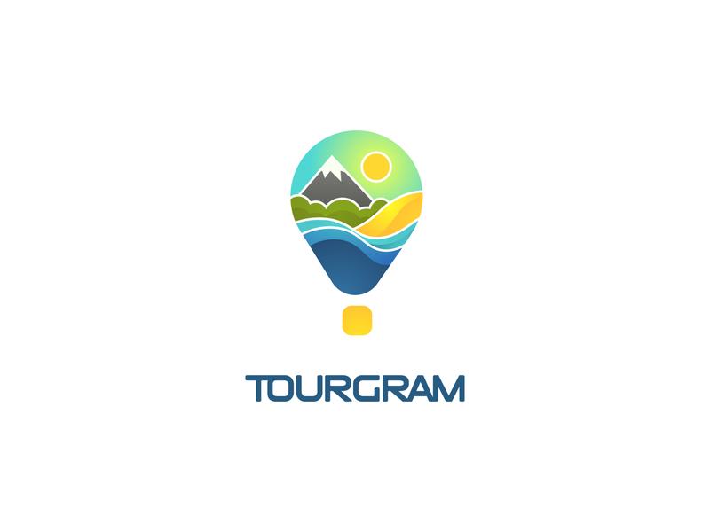 Tourgeram vector flat illustration graphic design brand design logo design logo identity design graphic deisgn branding design brand