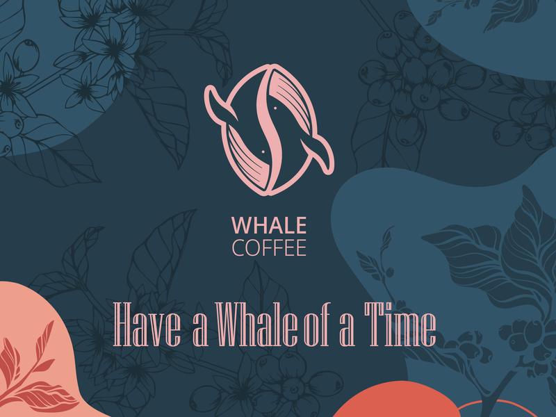 Whale Coffee coffee design brand brand design branding identity design logo design logo