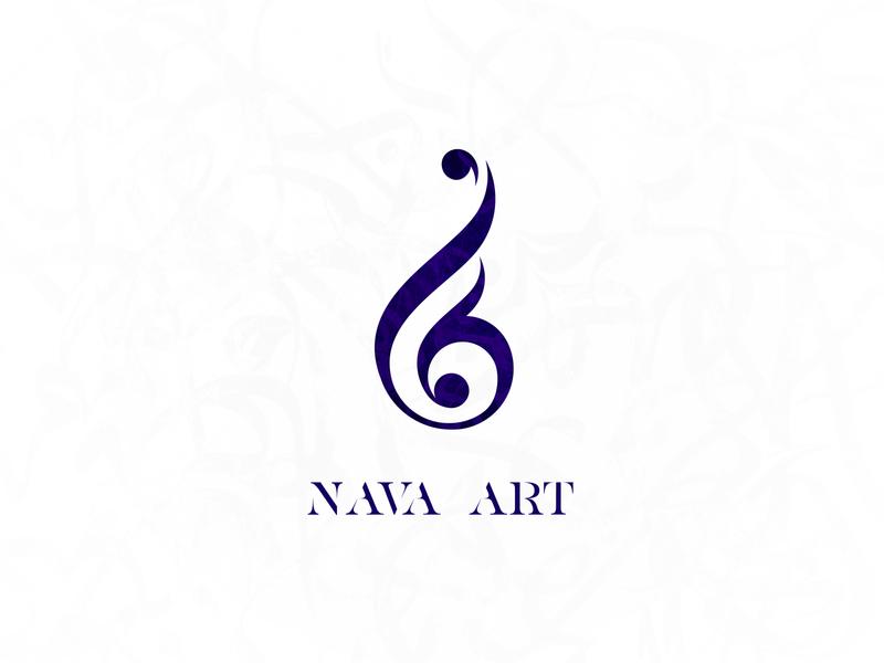 Nava Art logotype art logo design logo identity design graphic design design branding brand design