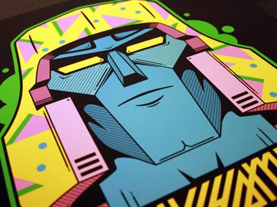 Megatron print retro megatron 1980s print