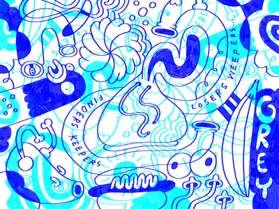 G.O.D. abstract doodle drawing art