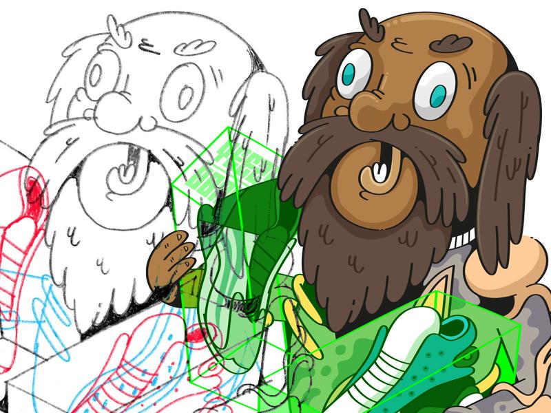 C H E S T E R character adobeillustator illustration drawing art vector
