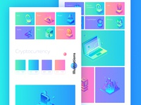 Set of illustrations / ico platform